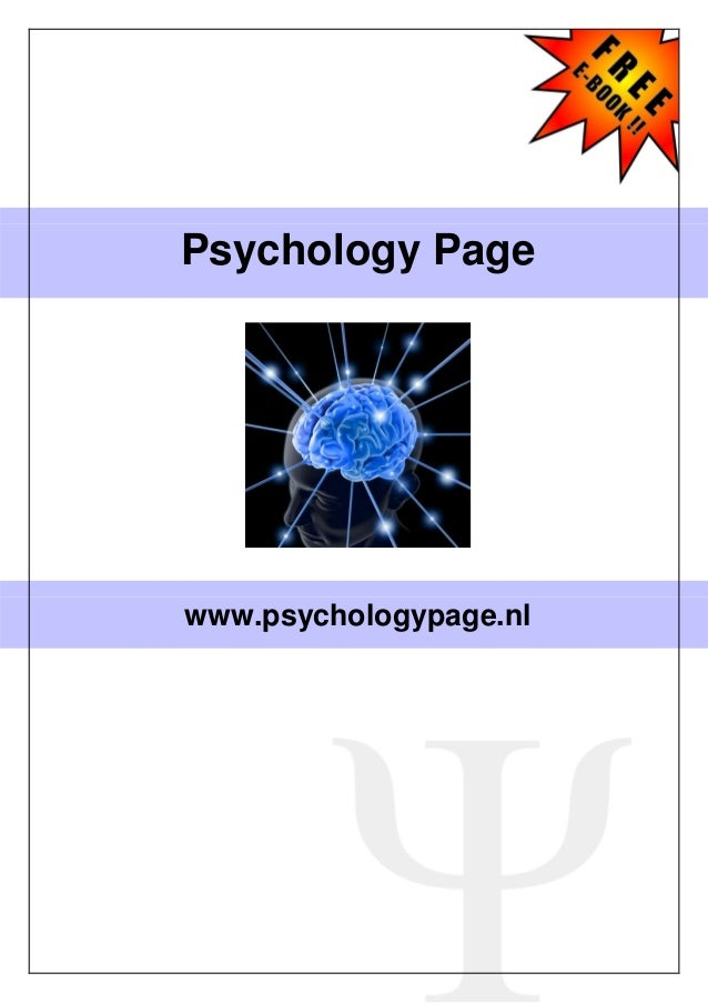 Psychology Page  www.psychologypage.nl