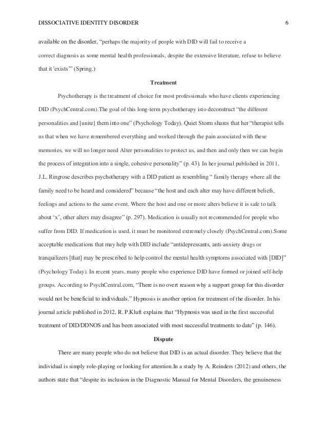 dissociative identity disorder extended essay