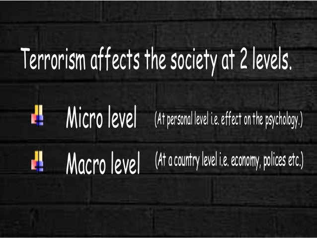 psychological effects of terrorism The changing mental health aftermath of 9/11--psychological the study of psychological reactions to terrorism is the multitude of possible effects of.
