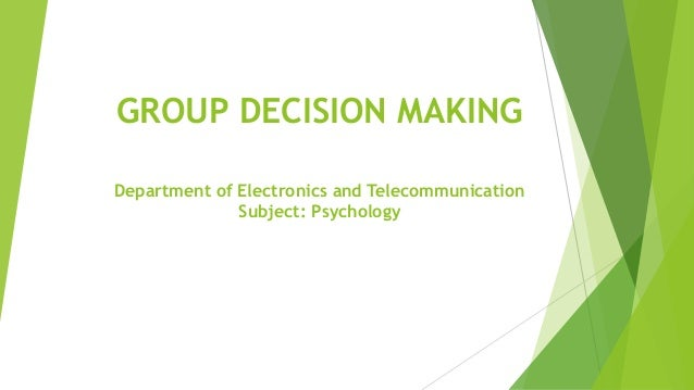 group decision making psychology