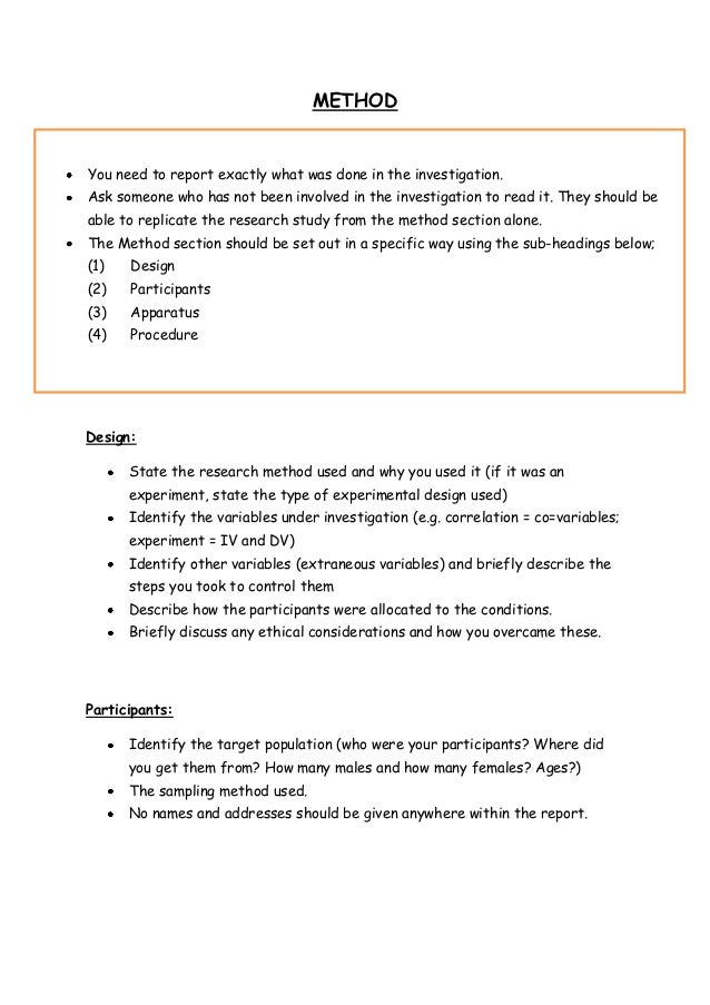 psychology report template hypothesesexperimental hypothesis null hypothesis justification of hypothesis 6