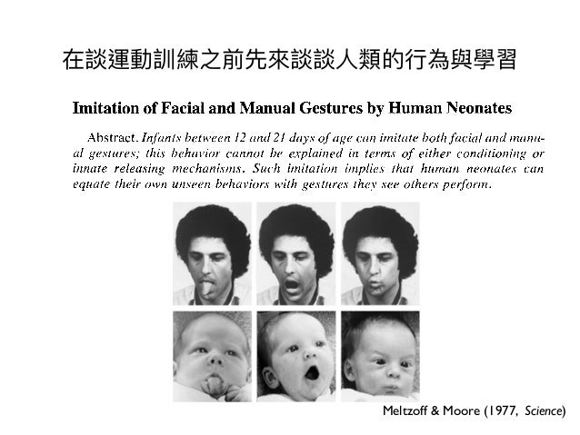 Imitation Of Facial And Manual Gestures By Human Neonates