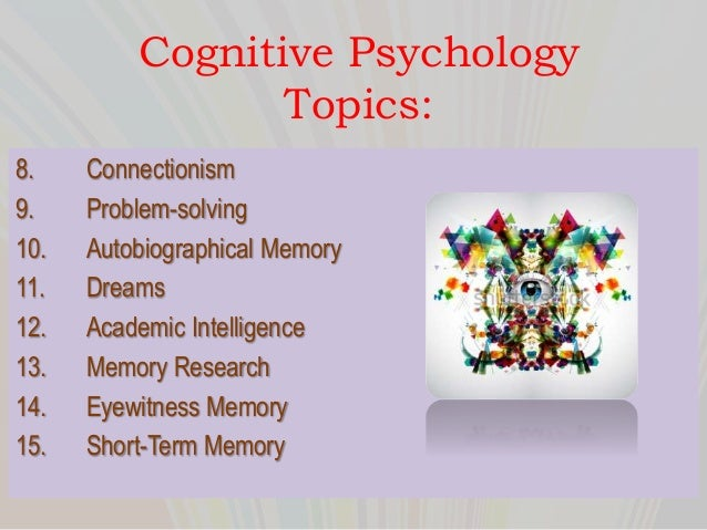 psychology term paper topics cognitive psychology