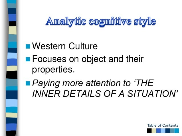 cognitive style and learning style Teaching & cognitive style – r a black if a class is made up of a variety of individual students with varying learning styles then the teacher needs to plan to present the material in a variety of fashions.