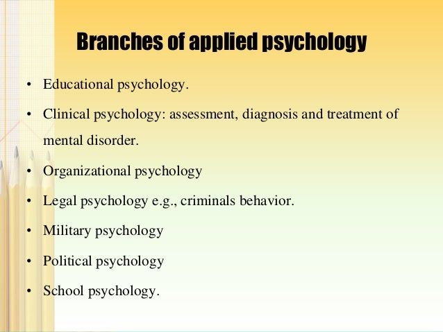 what are the branches of psychology and their definition