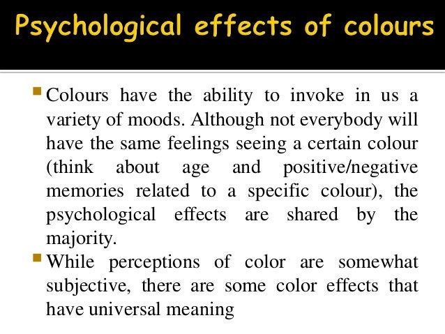 Moods Colors colours and moods(psychology)
