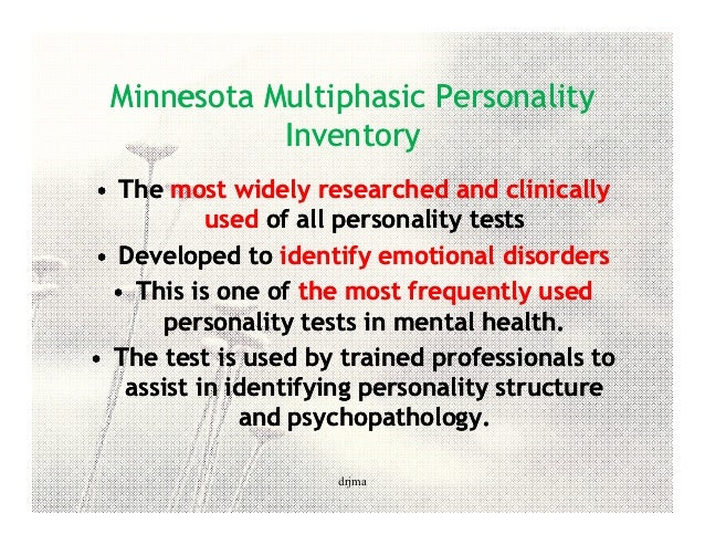 Minnesota Multiphasic Personality Inventory (MMPI)