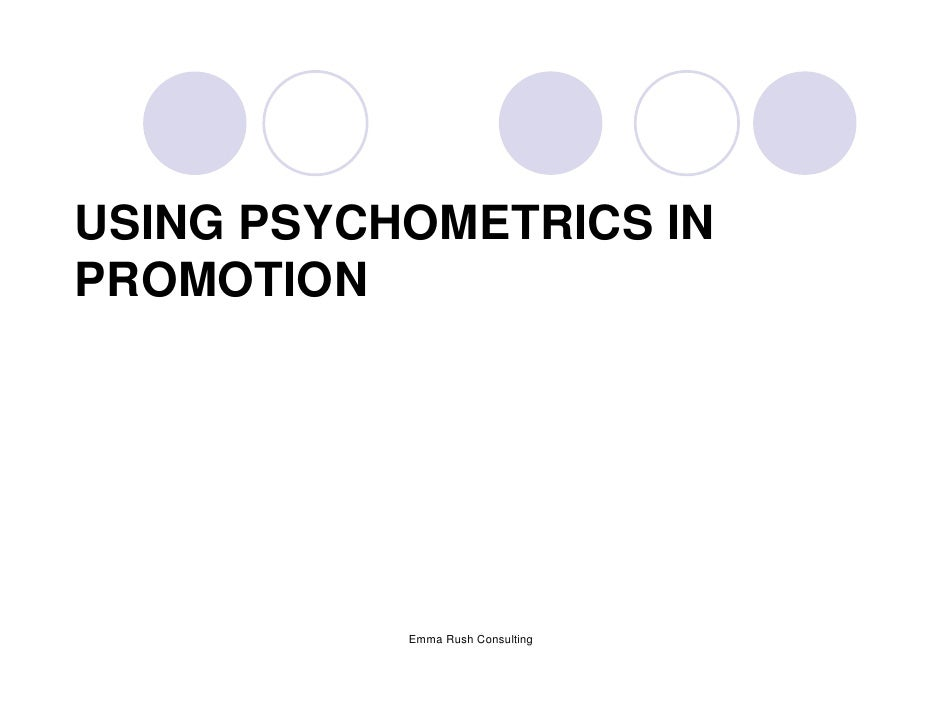 Psychometrics Slides