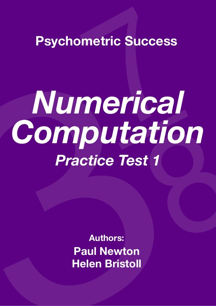 Numerical computatioN—practice test 1 Psychometric Success NumericalComputation            Practice Test 1                ...
