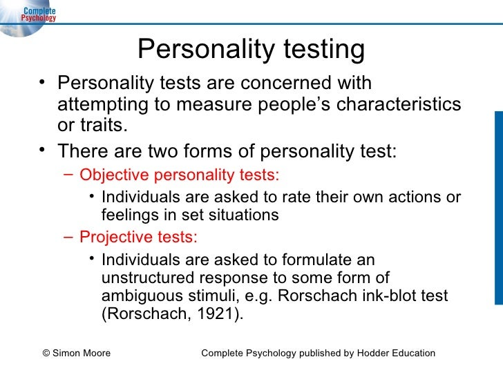 objective and projective test Instead of being scored to a universal standard as with an objective personality test,  test, content from projective  projective personality test.