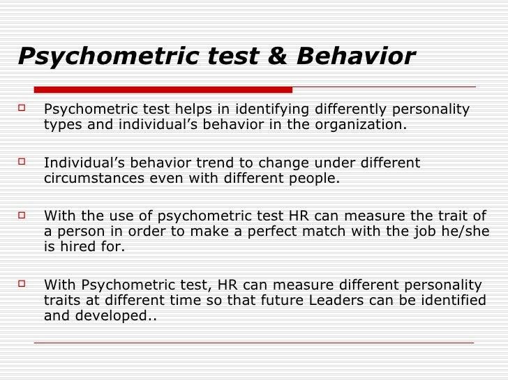 Psychometrics: