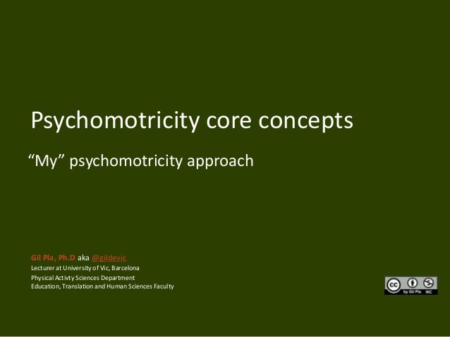 "Psychomotricity core concepts""My"" psychomotricity approachGil Pla, Ph.D aka @gildevicLecturer at University of Vic, Barcel..."