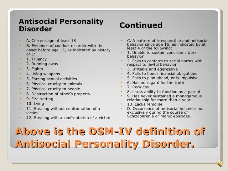 dating antisocial personality disorder Dating dangers: sociopaths signs of antisocial personality disorder - saint louis dating - cleveland dating site - boynton beach dating site.