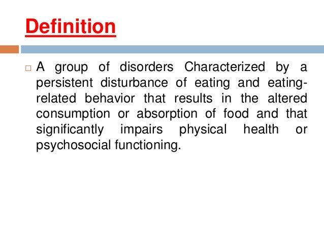 Psychopathology Of Eating Disorders