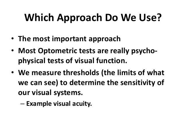 psychophysics example