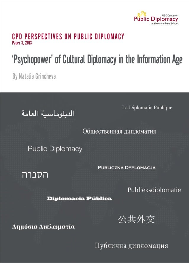 'Psychopower' of Cultural Diplomacy in theInformation AgeNatalia GrinchevaApril 2013Figueroa PressLos Angeles