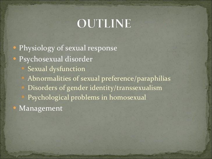 Psychosexual conditions