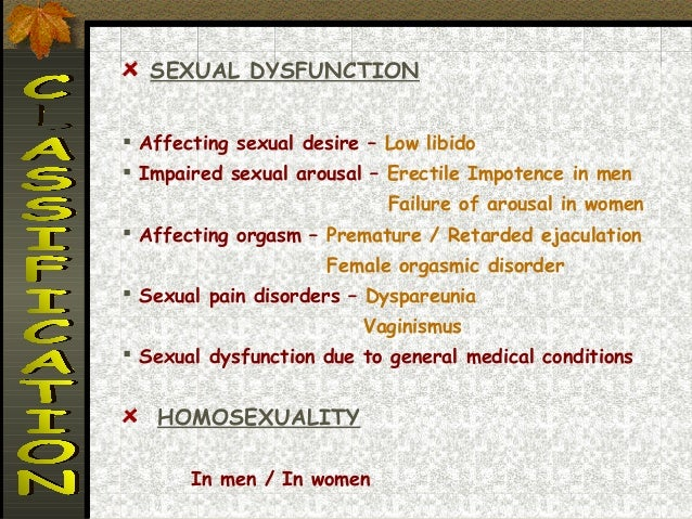 Psycho sexual disorders in women