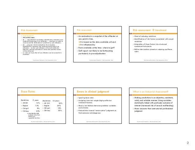 Psychosexual evaluation test