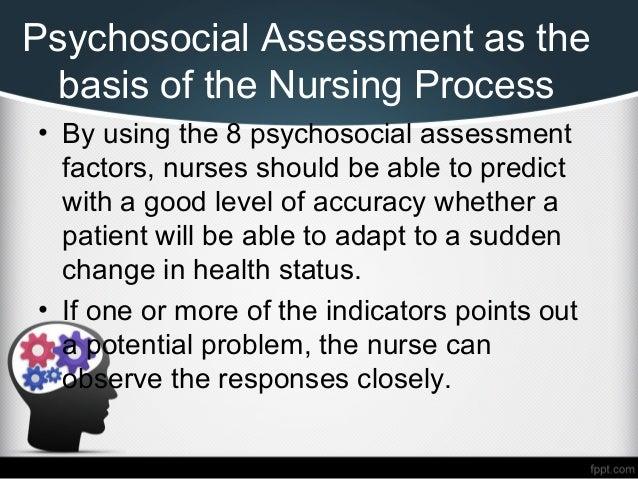psychosocial assessment nursing Psychosocial assesment