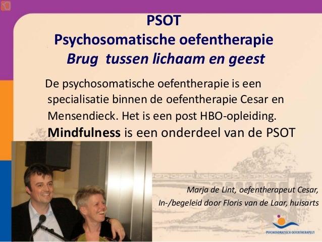 PSOT Psychosomatischeoefentherapie   BrugtussenlichaamengeestDepsychosomatische oefentherapie iseenspecialisatie ...
