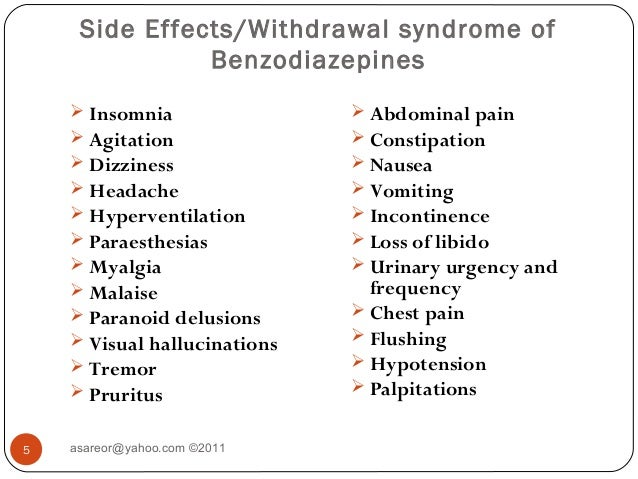 diazepam withdrawal palpitations