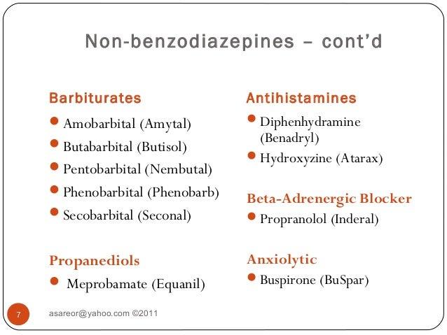 Is Atarax A Benzodiazepine