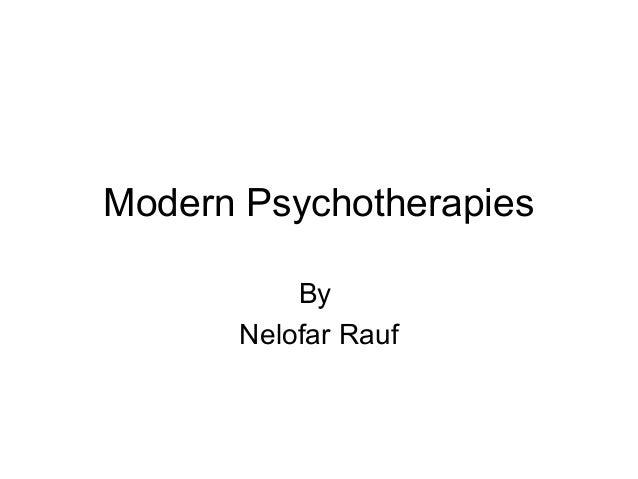 Modern Psychotherapies By Nelofar Rauf