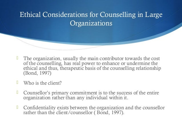 an ethical dilemma in the counselling Psychotherapy as a practice consists of a multitude of ethical dilemmas these  dilemmas  counselling & psychotherapy (higher diploma final year projects.