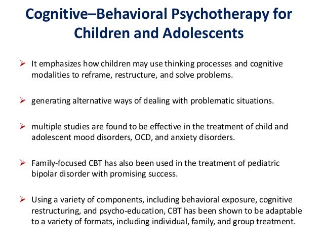 Effectiveness of cognitive behavioral group therapy for ...