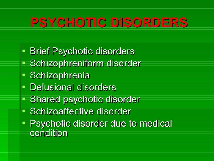 delusional and shared psychotic disorders The dsm-5 no longer separates delusional disorder from shared delusional disorder if criteria are met for delusional disorder, that diagnosis is made if the diagnosis cannot be made but shared beliefs are present, the diagnosis other specified schizophrenia spectrum and other psychotic disorder is used.