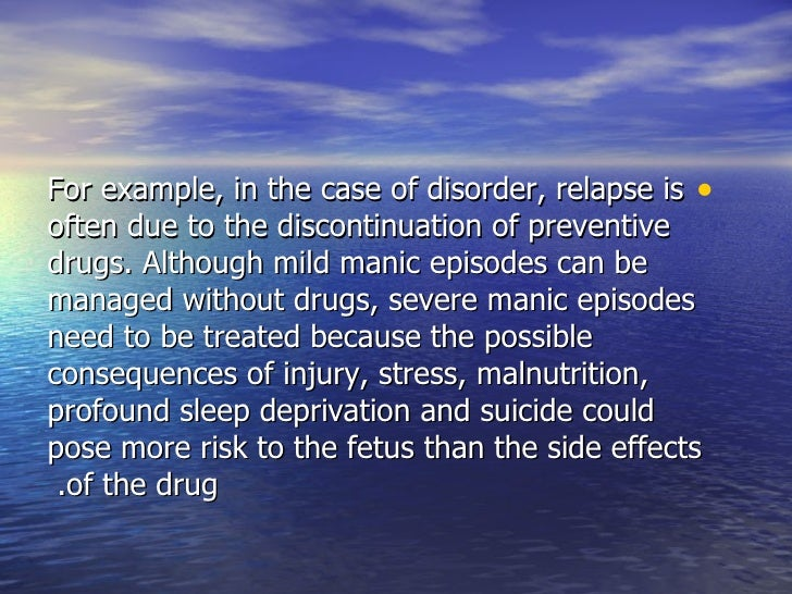 prenatal and perinatal effects of psychotropic In addition to life style and pre-pregnancy obesity, psychotic disorder during  pregnancy was also an independent risk factor for fetal abnormality patients with  severe  1 the effects of common psychiatric drugs on pregnancy.