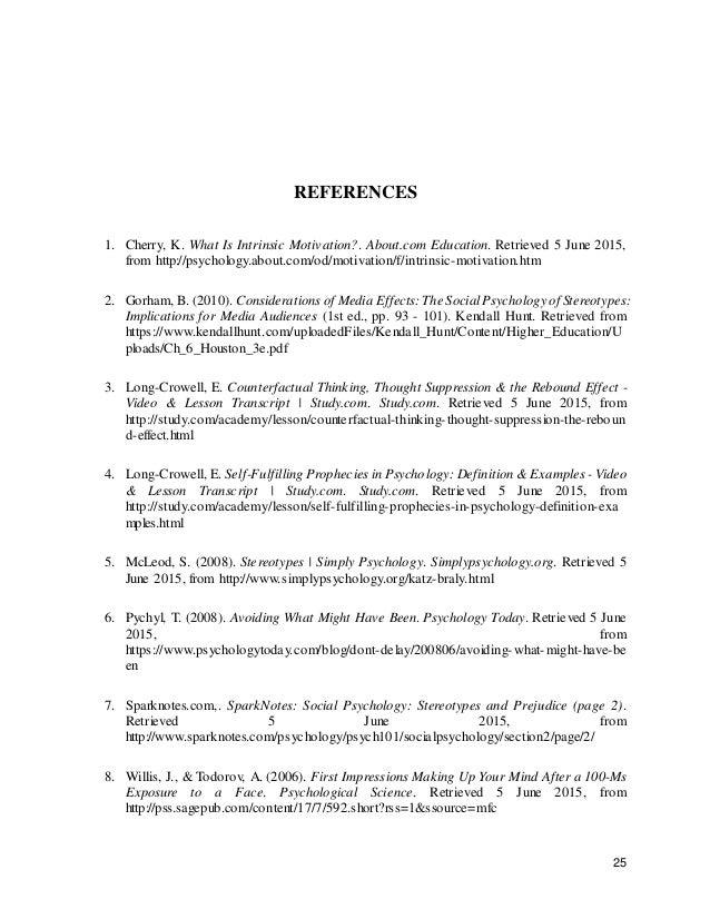 26 9. Duff, K. (2012). Think social psychology. Boston, MA: Allyn & Bacon/Pearson. 10. Gilbert, D., Fiske, S., & Lindzey, ...