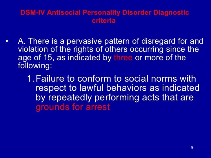 a dsm iv diagnosis of ted bundy Case study-ted bundy by the inferred diagnosis of antisocial in bundy's life using the diagnostic statistical manual of.