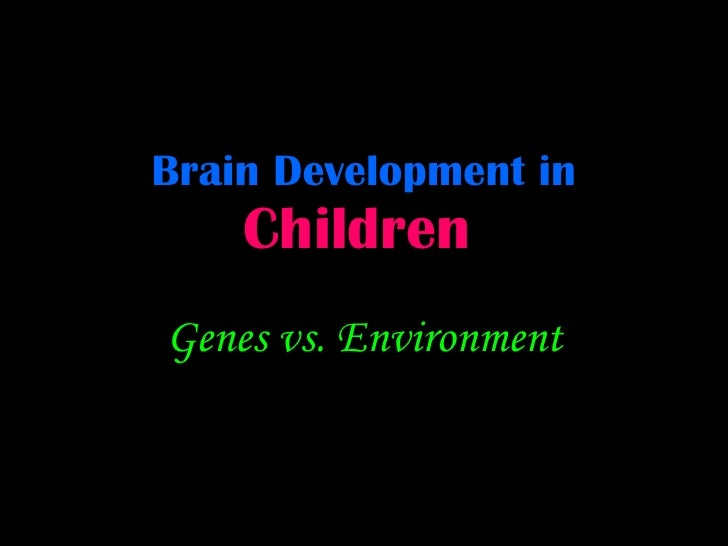 Brain Development in   Children   Genes vs. Environment