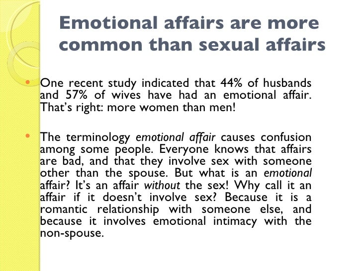 Men who have emotional affairs