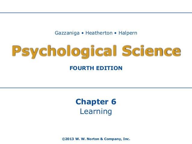 Gazzaniga • Heatherton • Halpern  Psychological Science FOURTH EDITION  Chapter 6 Learning  ©2013 W. W. Norton & Company, ...