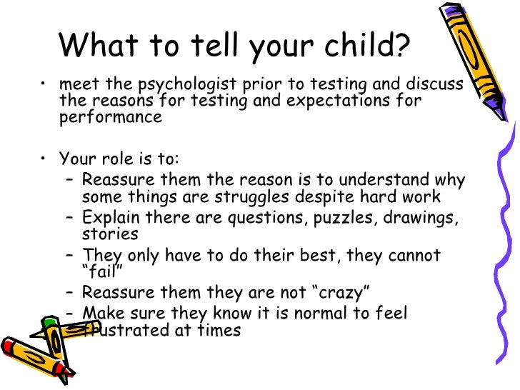 Psychological Testing For Your Child >> Psychological Testing And Children