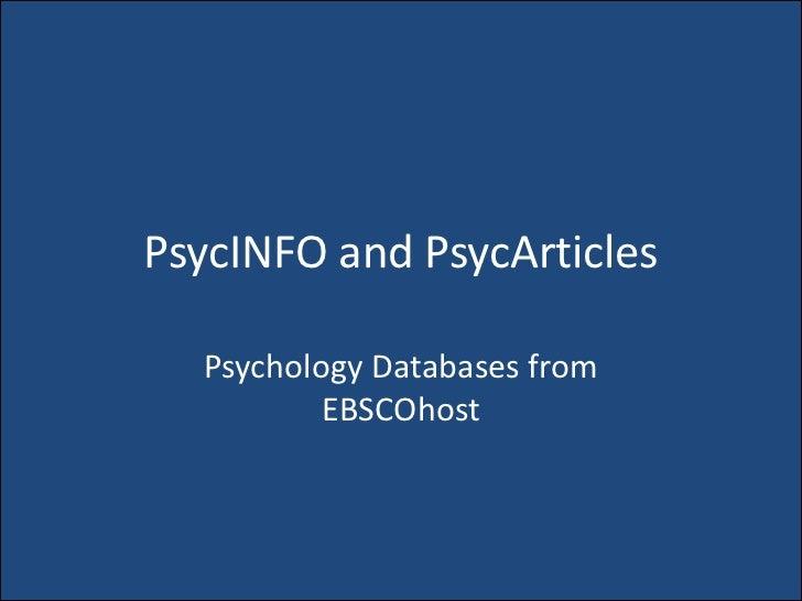 psyc articles