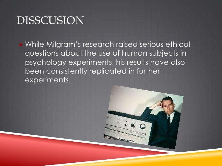 Ethical Concerns - Stanley Milgram
