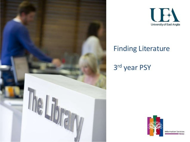 Finding Literature 3rd year PSY