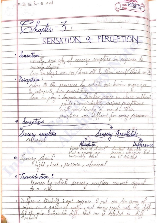 introduction to psychology pdf notes