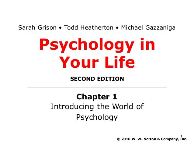 Psychology In Your Life Lecture PowerPoint Chapter 1