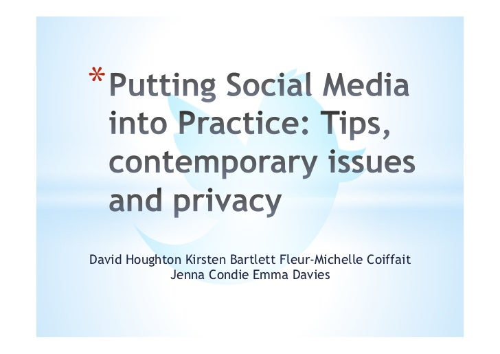 social media private privacy issues Many of us use social networking sites daily to share information about  we  often think about our personal sites as private, when in reality,.