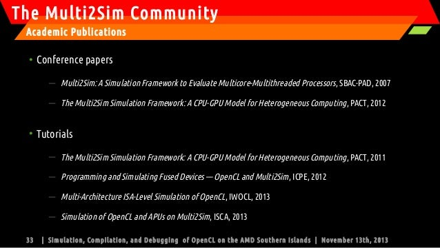 PT-4102, Simulation, Compilation and Debugging of OpenCL on