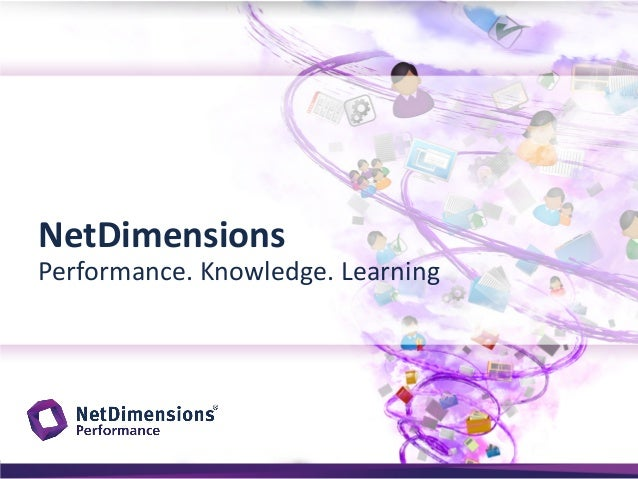 NetDimensions  Performance. Knowledge. Learning