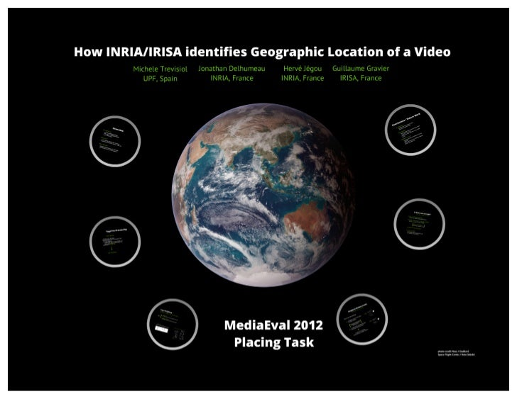 How INRIA identifies Geographic Location of a Video