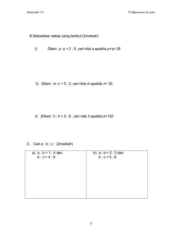 Pra Pt3 Soalan Akhir Tahun Matematik Tingkatan2