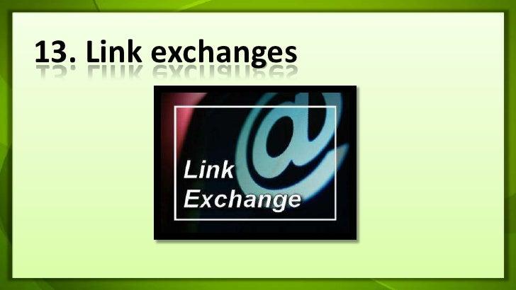13. Link exchanges<br />