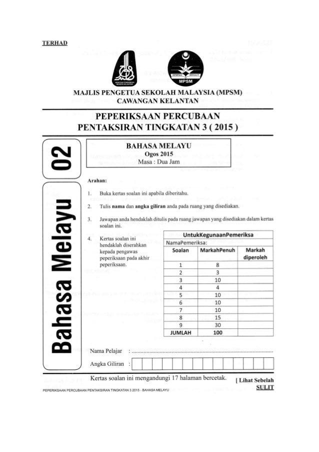 Pt3 Bm Kelantan